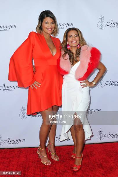 Aida Rodriguez and Lisa Vidal attend the 33rd Annual Imagen Awards held at the JW Marriott Los Angeles at LA LIVE on August 25 2018 in Los Angeles...