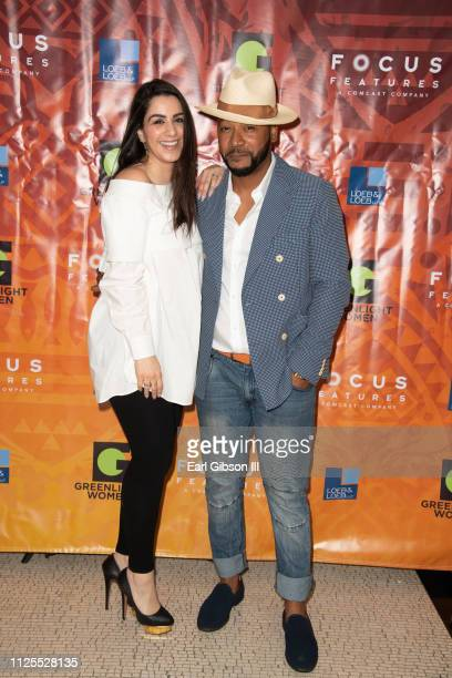Aida Short and Columbus Short attend the Greenlight Women For Black History Month Brunch Celebration at The London on February 17 2019 in West...