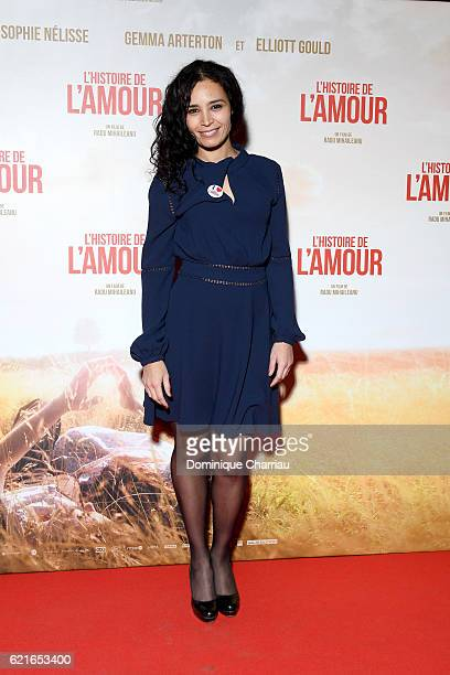 Aida Touhiri attends 'L'Histoire de L'Amour' Paris Premiere at Gaumont Capucines on November 7 2016 in Paris France