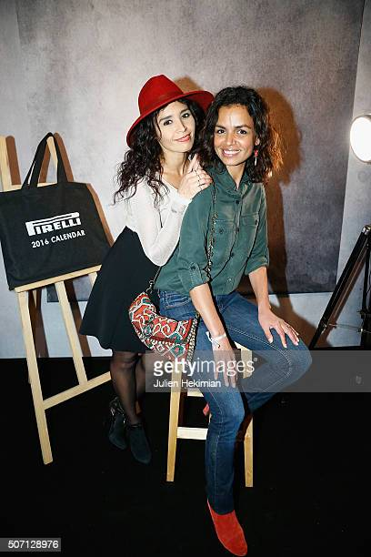 Aida Touihri and Laurence Roustandjee attend the 'Pirelli Calendar by Annie Leibovitz' Launch Party At Hotel National Des Invalides on January 27...