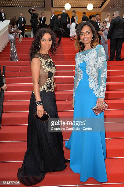 Aida Touihri and Laurence Roustandjee attend the 'The BFG' Premiere during the annual 69th Cannes Film Festival at the Palais des Festivals on May 14...