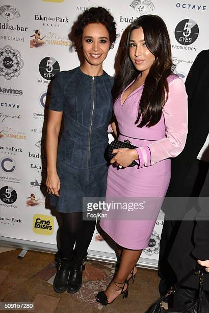 Aida Touihri and Majda Sakho attend 'Les Lumieres 2016' After Party at the Buddha Bar on February 8 2016 in Paris France