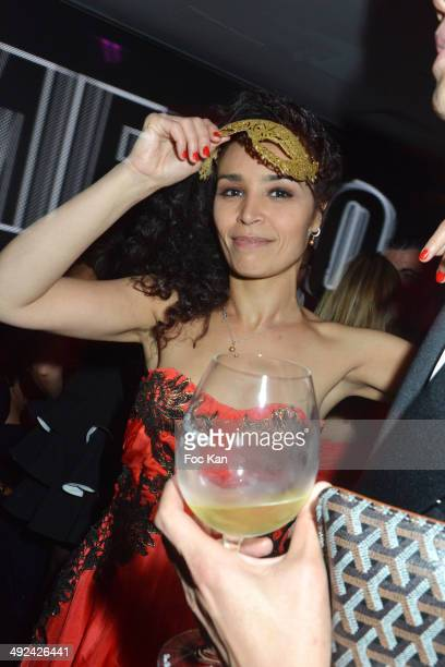 Aida Touihri attend the VIP Room JW Marriott Day 6 Dancing Spies Ball hosted by Rosario Dawson 67th Annual Cannes Film Festival on May 19 2014 in...