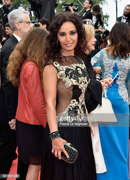 Aida Touihri attends 'The BFG ' premiere during the 69th annual Cannes Film Festival at the Palais des Festivals on May 14 2016 in Cannes France