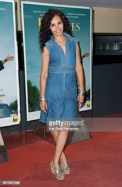 Aida Touihri attends the 'Divines' Paris Premiere at UGC Cine Cite des Halles on August 29 2016 in Paris France