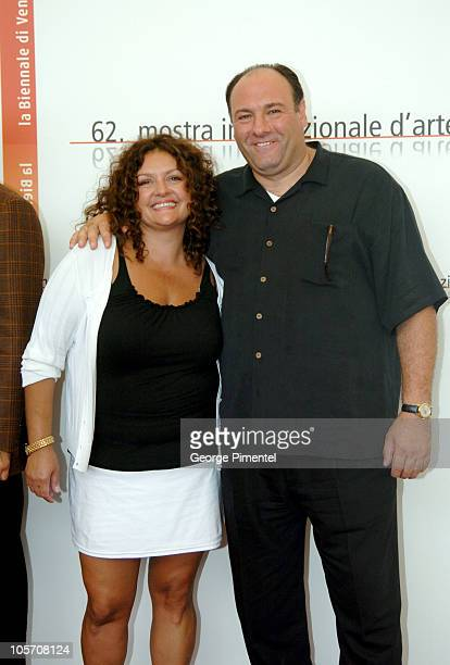 Aida Turturro and James Gandolfini during 2005 Venice Film Festival 'Romance Cigarettes' Photocall at Casino Palace in Venice Lido Italy