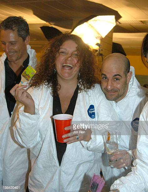 Aida Turturro and Stanley Tucci during 'Stir Splatter and Roll' Publicolor's Fourth Annual Fundraiser at High School of Art and Design in New York...