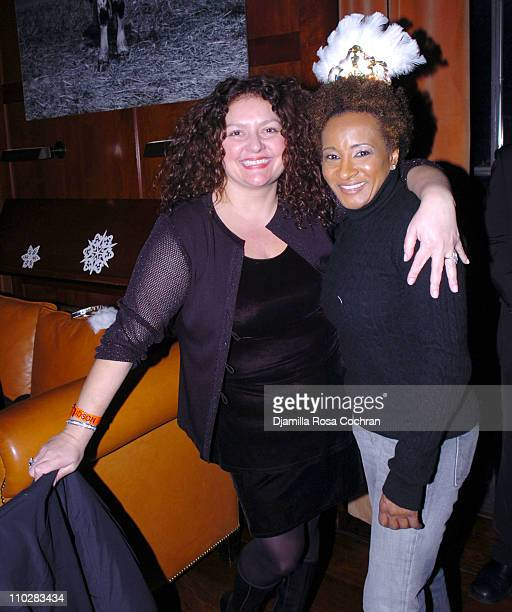Aida Turturro and Wanda Sykes during New Year's 2006 in New York City Carson Daly's New Year's Eve Party at Hudson Bar in New York City New York...