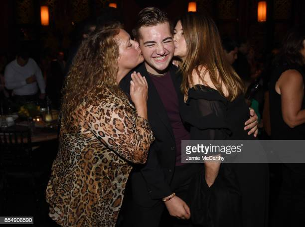 Aida Turturro Michael Gandolfini and Lorraine Bracco attend the after party for the Curb Your Enthusiasm season 9 premiere at TAO Downtown on...