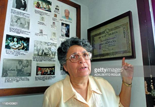 Aida Valdez one of the mothers of Cuban Activism of the dissident organization National Coordination of Political Prisoners and ExPrisoners Leonor...
