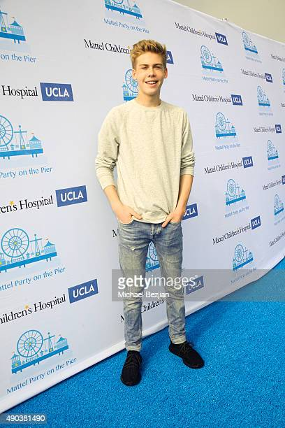 Aidan Alexander arrives at Mattel Children's Hospital UCLA 16th Annual Party On The Pier Fundraiser at Santa Monica Pier on September 27 2015 in...