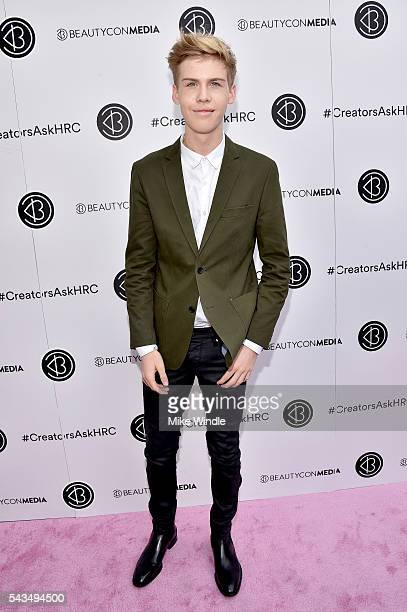 Aidan Alexander attends as Beautycon Media curates the first digital content creator town hall with Hillary Clinton at NeueHouse Los Angeles on June...