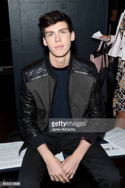 Aidan Alexander attends Vivienne Tam fashion show during New York Fashion Week The Shows at Gallery 1 Skylight Clarkson Sq on September 10 2017 in...