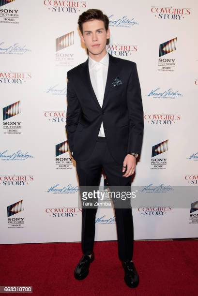 Aidan Alexandera rrives to the premiere of Samuel Goldwyn Films' 'A Cowgirl's Story' at Pacific Theatres at The Grove on April 13 2017 in Los Angeles...