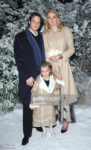 Aidan Butler and Jodie Kidd at the Kensington Gardens in London United Kingdom