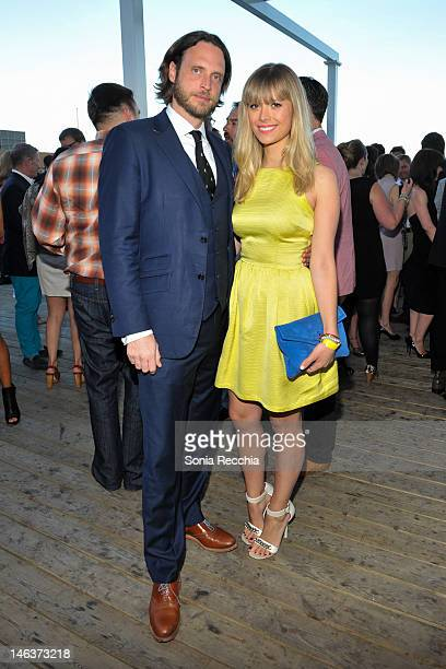Aidan Butler and Mosha Lundstrom Halbert at Power Ball Quarter Life Crisis VIP reception cohosted by The Power Plant Grey Goose and Soho House on...