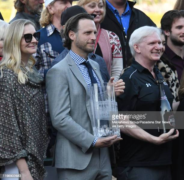 Aidan Butler Chief Strategy Officer of the Stronach Group during opening day horse racing at Santa Anita Park on Saturday December 28 2019 in Arcadia...