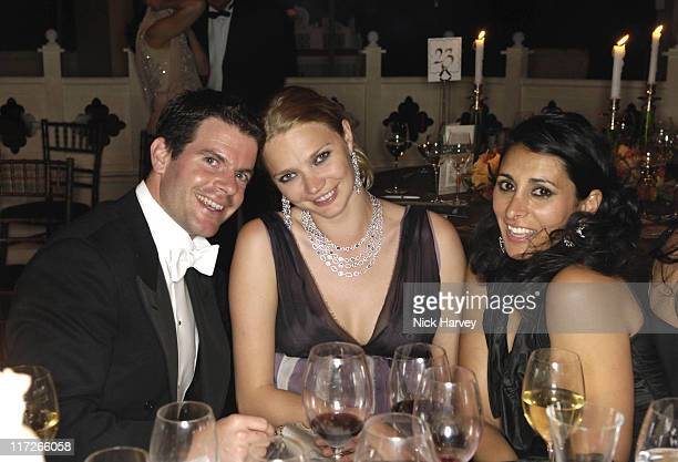Aidan Butler Jodie Kidd and guest during The 8th Annual White Tie and Tiara Ball to Benefit the Elton John AIDS Foundation in Association with...