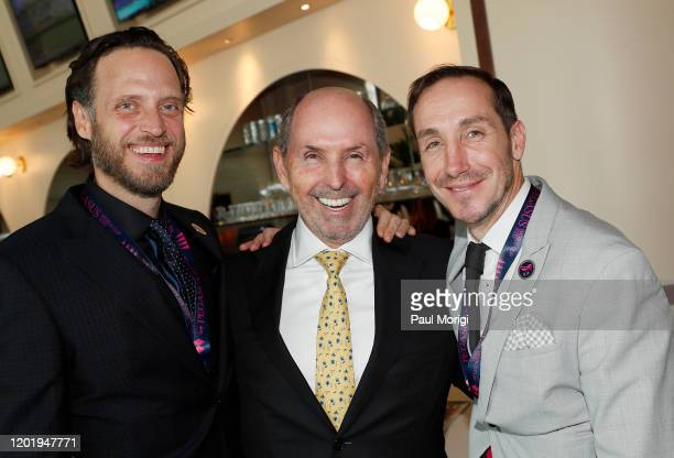 Aidan Butler Tamir Shanet and Paul Williams attend the 2020 Pegasus World Cup Championship Invitational Series at Gulfstream Park on January 25 2020...