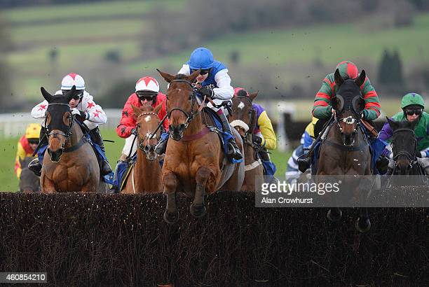 Aidan Coleman riding Emperor's Choice on their way to winning The Coral Welsh Grand National at Chepstow racecourse on December 27, 2014 in Chepstow,...