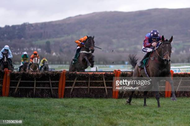 Aidan Coleman riding Paisley Park clear the last to win The galliardhomes.com Cleeve Hurdle at Cheltenham Racecourse on January 26, 2019 in...