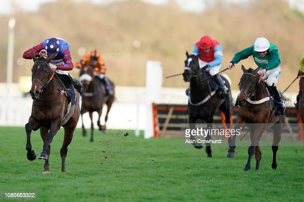 Aidan Coleman riding Paisley Park clear the last to win The JLT Hurdle at Ascot Racecourse on December 22 2018 in Ascot England