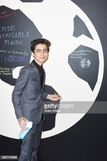 Aidan Gallagher at the Environmental Media Association's 27th Annual EMA Awards at Barkar Hangar on September 23 2017 in Santa Monica California