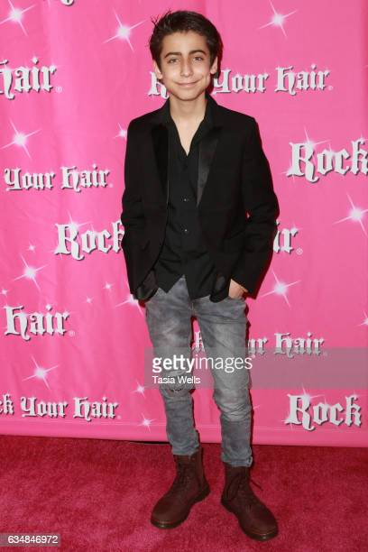 Aidan Gallagher attends Rock Your Hair presents Valentine's Rocks at The Avalon Hotel on February 11 2017 in Los Angeles California