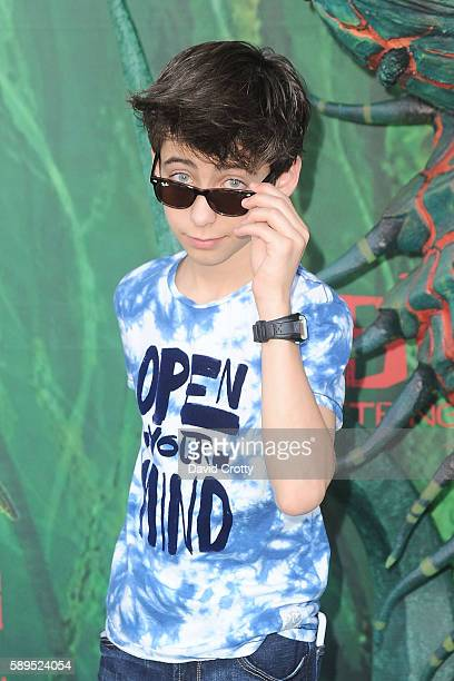 Aidan Gallagher attends the Kubo and the Two Strings World Premiere at AMC Universal City Walk on August 14 2016 in Universal City California