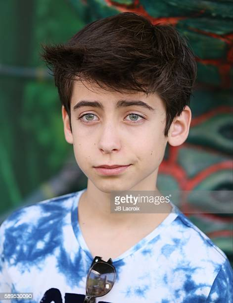 Aidan Gallagher attends the premiere Focus Features' 'Kubo and The Two Strings' on August 14 2016 in Universal City California