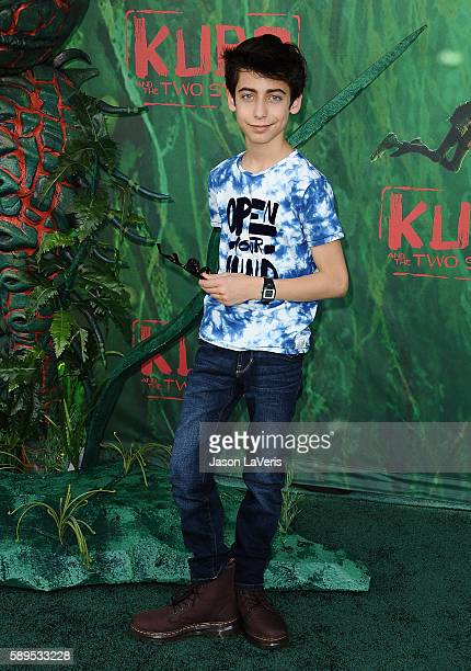 Aidan Gallagher attends the premiere of 'Kubo and the Two Strings' at AMC Universal City Walk on August 14 2016 in Universal City California