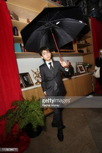 Aidan Gallagher attends The Umbrella Academy Premiere on February 12 2019 in Hollywood California