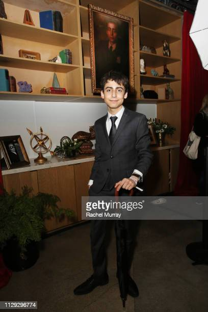 Aidan Gallagher attends 'The Umbrella Academy' Premiere on February 12 2019 in Hollywood California