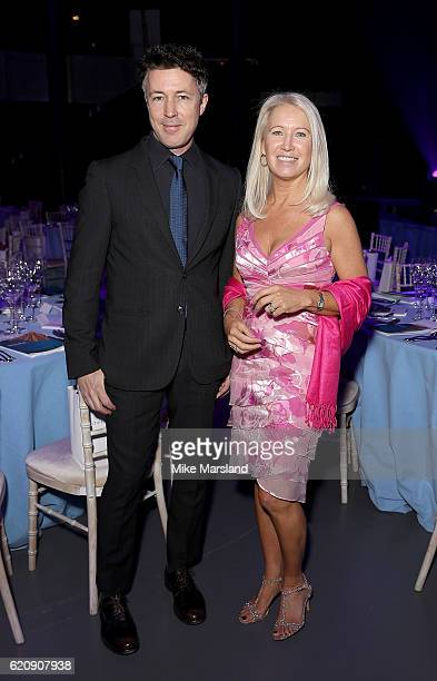 Aidan Gillen and Clea Newman attend the SeriousFun Children's Network London Gala 2016 at The Roundhouse on November 3 2016 in London England