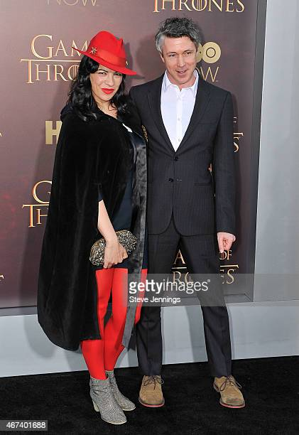 Aidan Gillen and guest attend HBO's 'Game Of Thrones' Season 5 San Francisco Premiere at San Francisco Opera House on March 23 2015 in San Francisco...