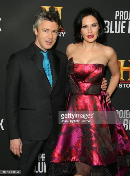 Aidan Gillen and Laura Mennell attend the premiere for History Channel's Project Blue Book on January 3 2019 in Los Angeles California