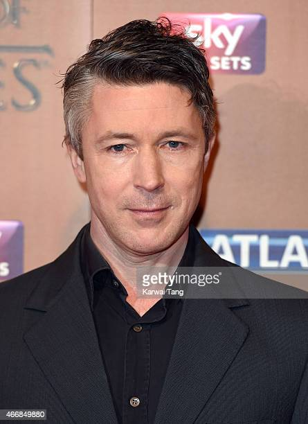 Aidan Gillen arrives for the world premiere of Game of Thrones Season 5 at Tower of London on March 18 2015 in London England