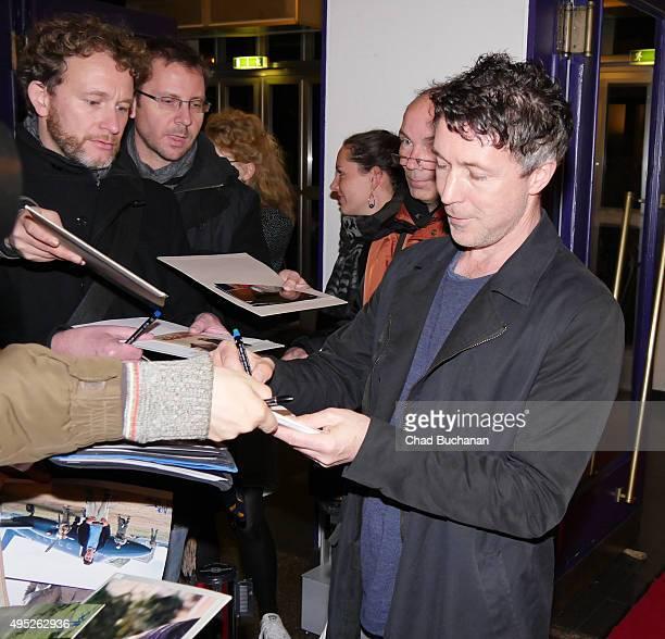Aidan Gillen attends the 'Familienbande' peremiere at Filmtheater am Friedrichshain on November 1 2015 in Berlin Germany
