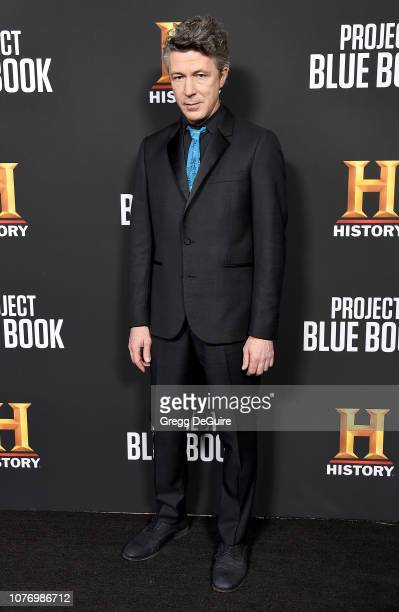 Aidan Gillen attends the premiere for History Channel's Project Blue Book at Simon House on January 3 2019 in Beverly Hills California