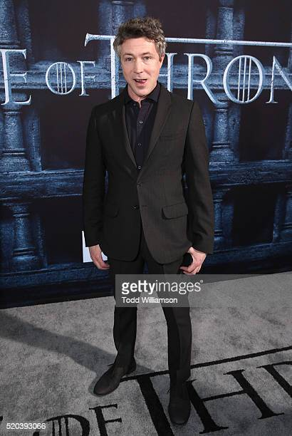Aidan Gillen attends the premiere of HBO's 'Game Of Thrones' Season 6 at TCL Chinese Theatre on April 10 2016 in Hollywood California