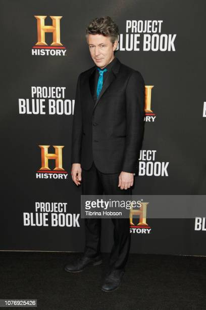 Aidan Gillen attends the LA premiere party for HISTORY's new drama Project Blue Book on January 3 2019 in Los Angeles California