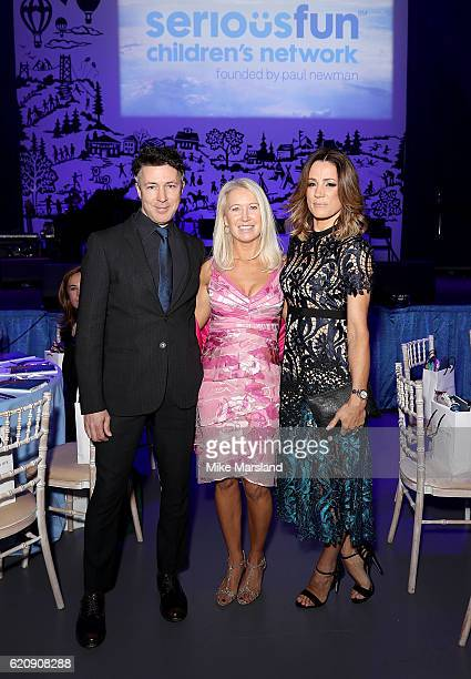 Aidan Gillen Clea Newman and Natalie Pinkham attend the SeriousFun Children's Network London Gala 2016 at The Roundhouse on November 3 2016 in London...