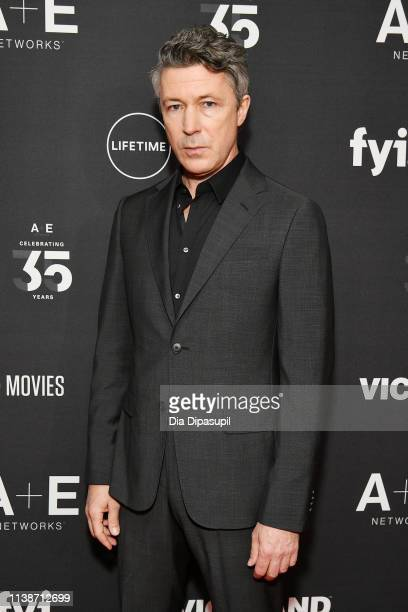 Aidan Gillen of History's Project Blue Book attends the 2019 A+E Networks Upfront at Jazz at Lincoln Center on March 27, 2019 in New York City.