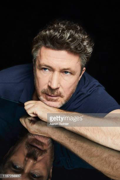 Aidan Gillen of Project Blue Book poses for a portrait in the Pizza Hut Lounge at 2019 ComicCon International San Diego on July 20 2019 in San Diego...