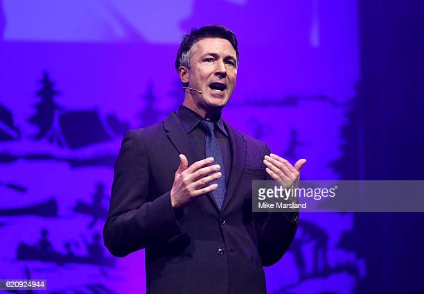 Aidan Gillen on stage at the SeriousFun Children's Network London Gala 2016 at The Roundhouse on November 3 2016 in London England