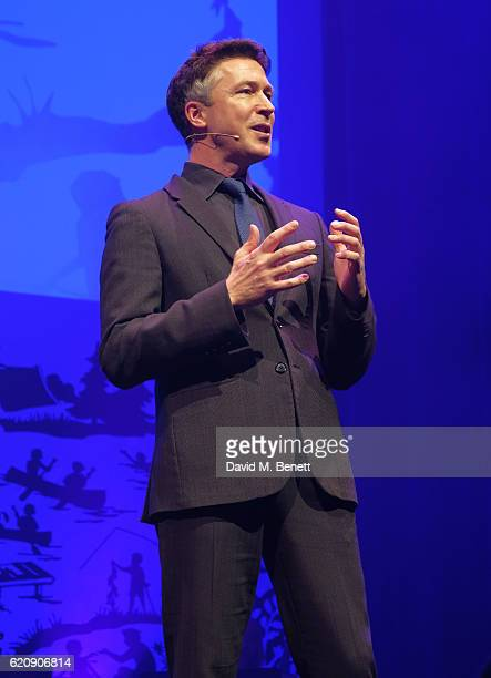 Aidan Gillen speaks onstage at the SeriousFun London Gala 2016 at The Roundhouse on November 3 2016 in London England