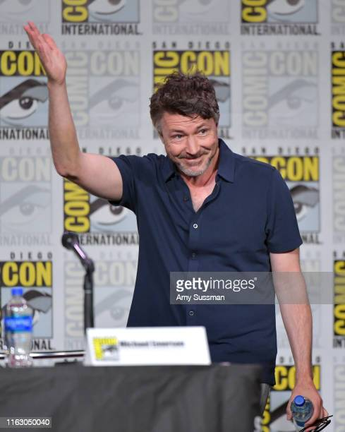 Aidan Gillen speaks onstage during Entertainment Weekly Brave Warriors at San Diego Convention Center on July 19 2019 in San Diego California