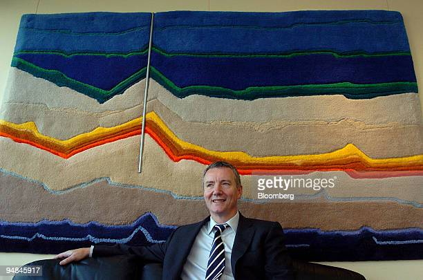 Aidan Heavey chief executive of Tullow Oil Plc speaks at an interview at his office in Dublin Ireland Wednesday November 23 2005 Tullow Oil Plc an...