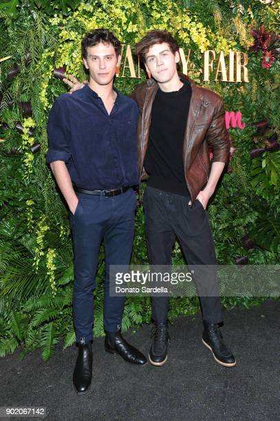 Aidan J Alexander and guest attend Vanity Fair x Instagram Celebrate the New Class of Entertainers at Mel's Diner on Golden Globes Weekend at Mel's...