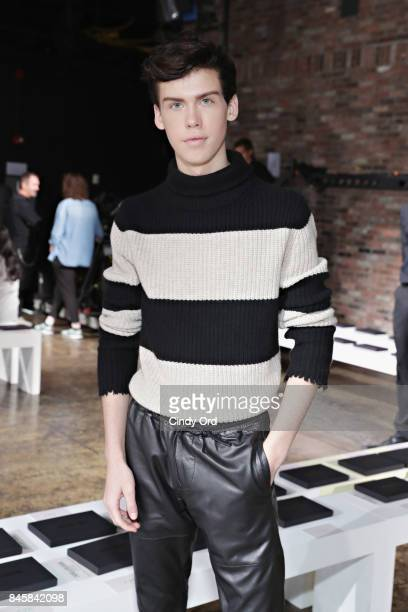 Aidan J Alexander attends the Zadig Voltaire September 2017 fashion show during New York Fashion Week at Cedar Lake on September 11 2017 in New York...
